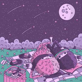 07 - Daily illustration - star gazer mon