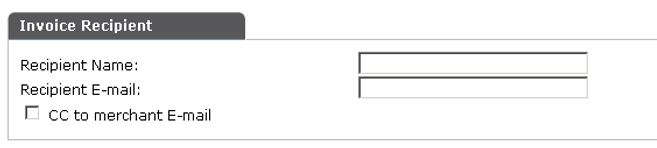 enter recipient info to resend invoice.p