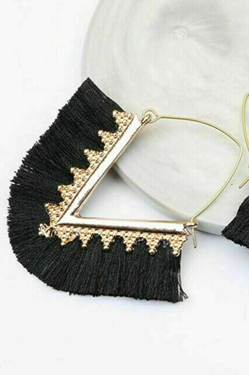 Triangle Fringe (Black)
