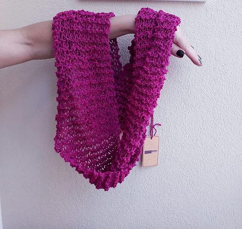 Gola Pink em lã Guga Fios & Arte