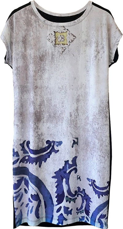 Vestido Azulejo Violeta Cylene Dallegrave
