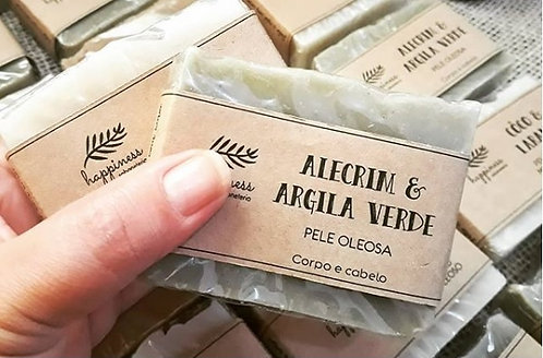 Sabonete Alecrim e Argila Verde