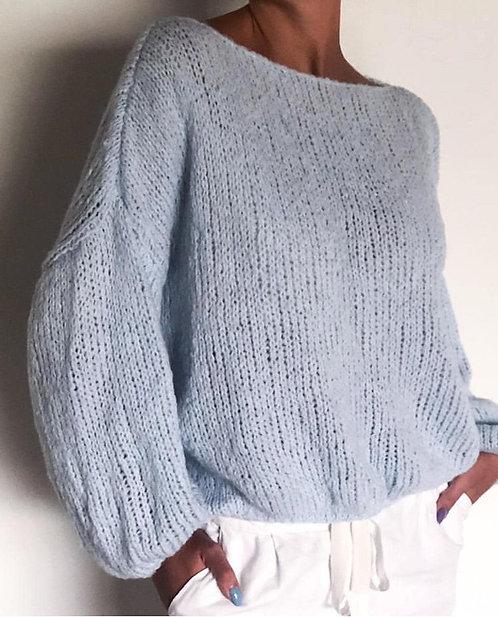 Blusão de Lã  Azul Bebê Bendi