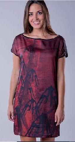 Vestido Açorianos Vermelho Cylene Dallegrave