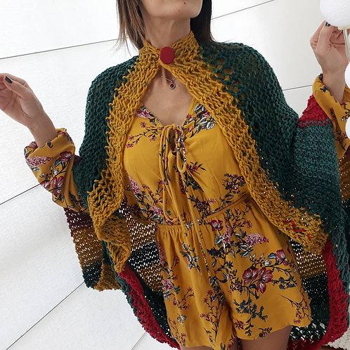 Casaqueto em Lã Colorido Guga Fios & Arte