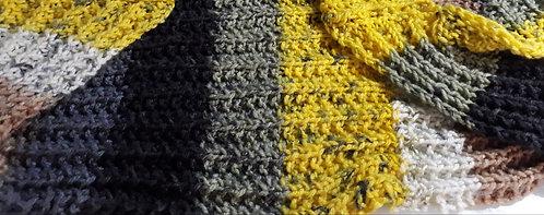 Gola Colorida em lã Gula Fios & Arte