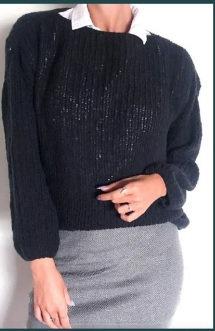 Blusão de Lã  Preto Bendi