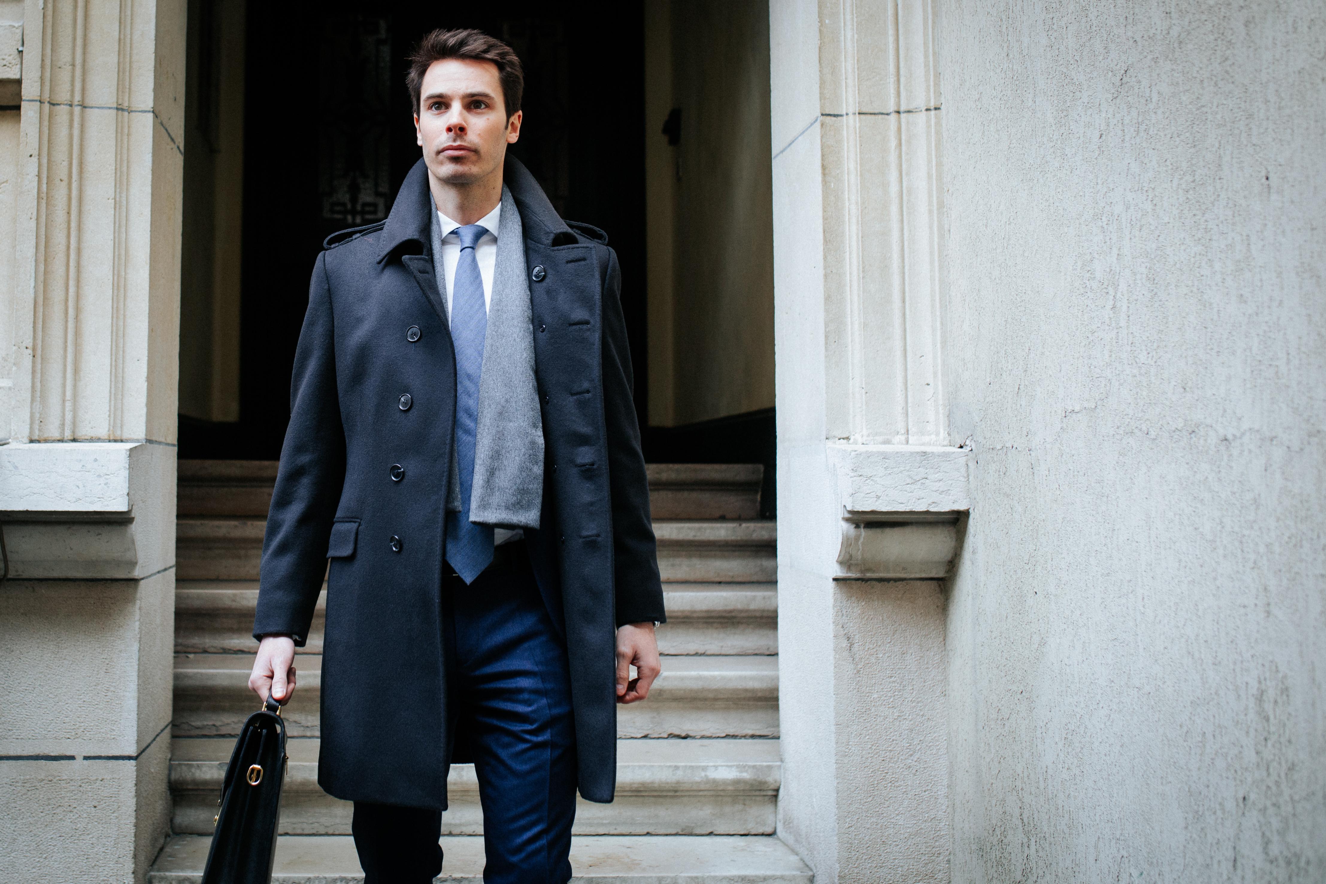 Manteau sur mesure bleu marine