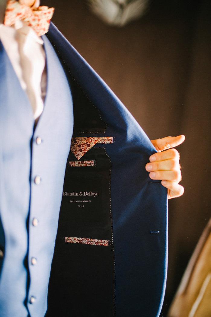 Intérieur de costume pour homme