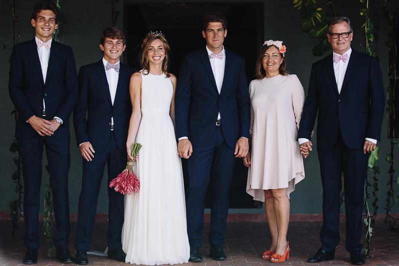 Costume du mariés et de la famille