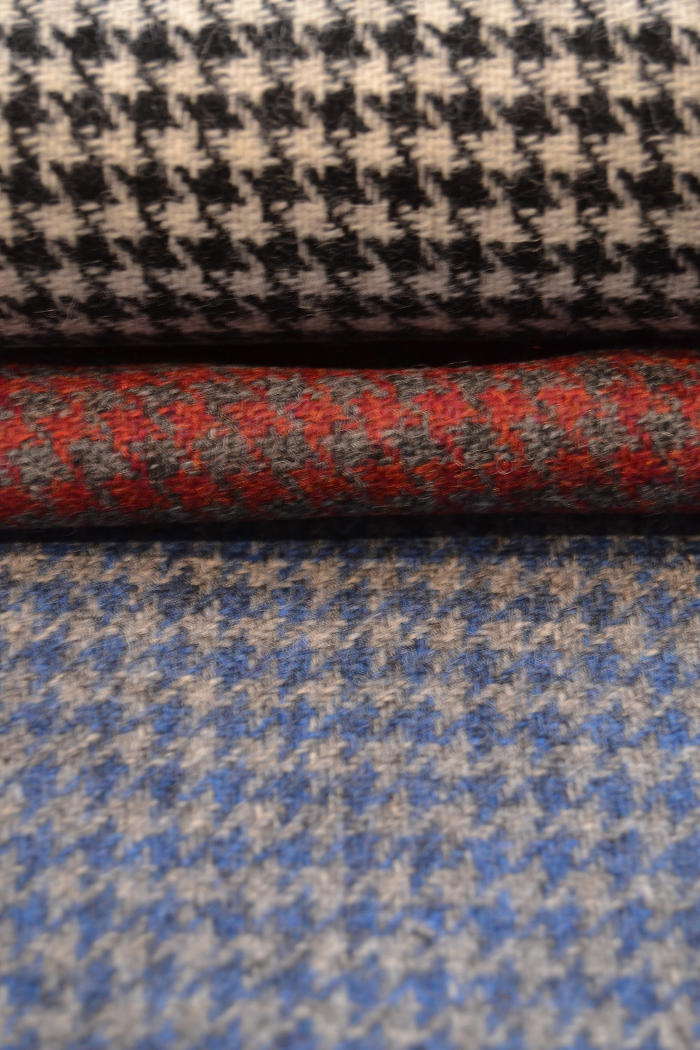 Tissu pied de poule en tweed Holland & Sherry