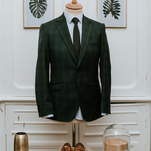 Costue vert sur mesure lille