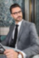 Veste en flanelle grise texturée