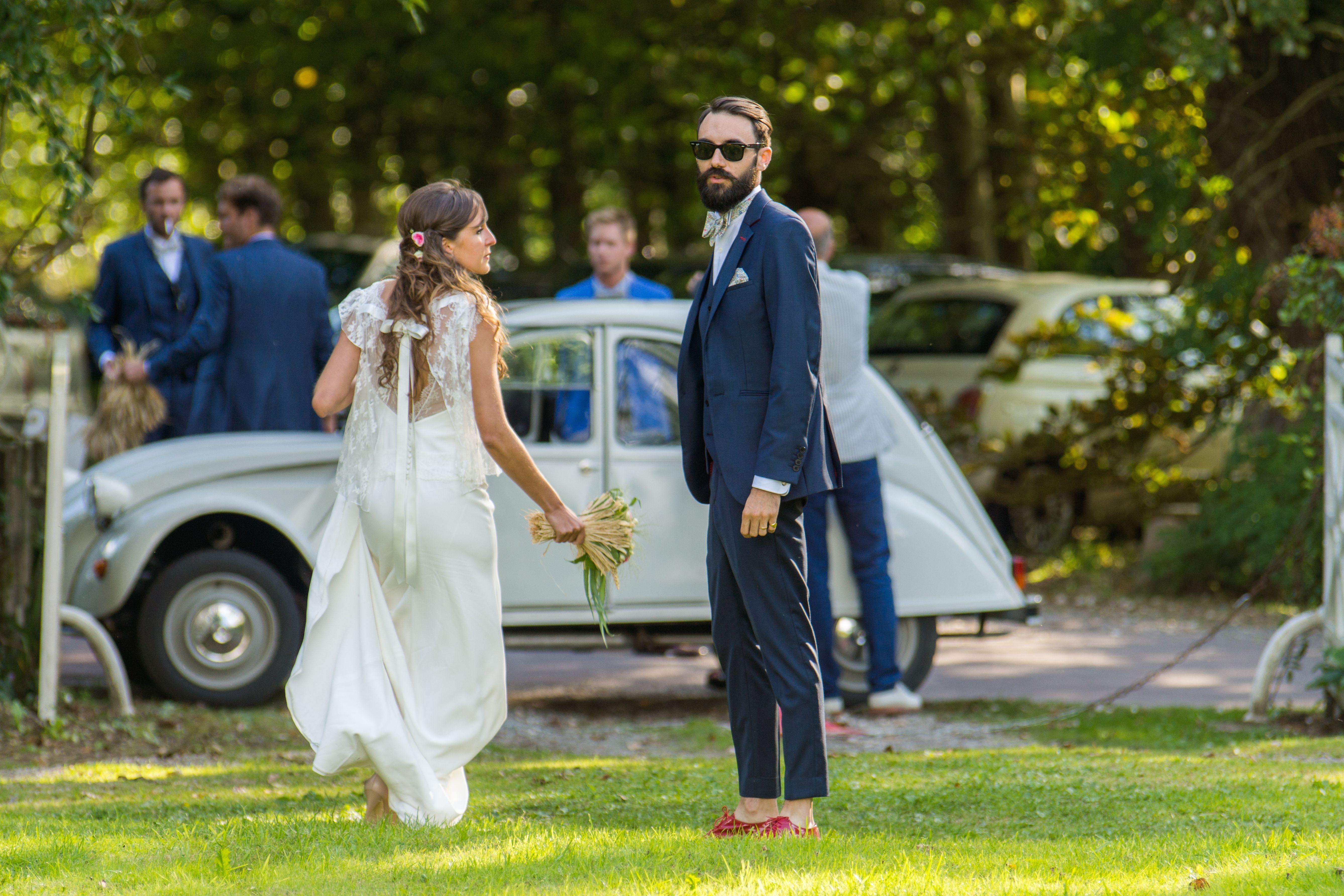 La marié en costume hypster