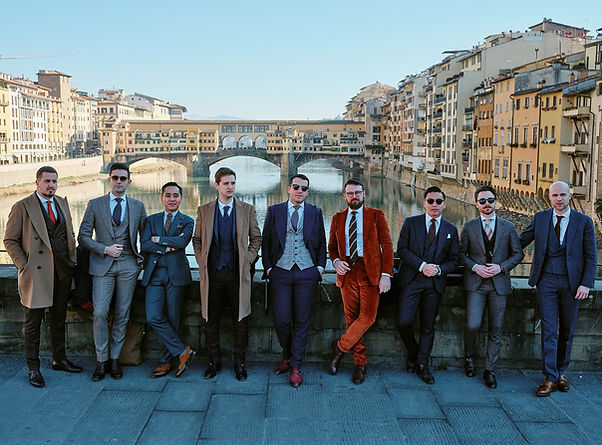 Equipe Blandin & Delloye - Pitti Uomo - Florence - Costume sur mesure