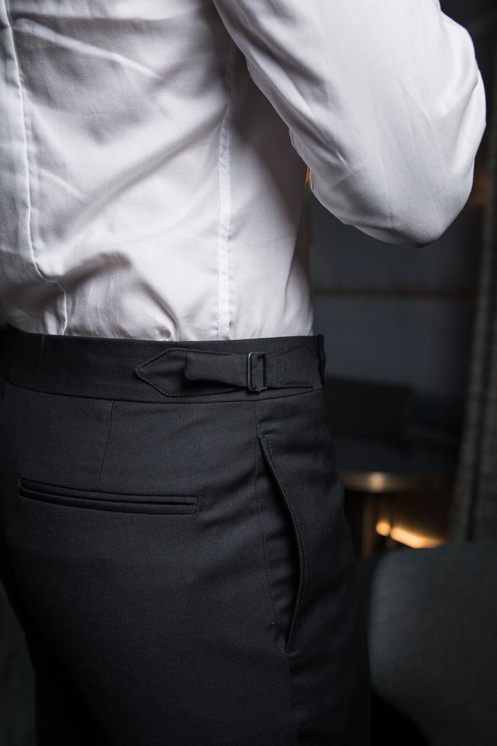 Pantalon avec poches couture et side adj