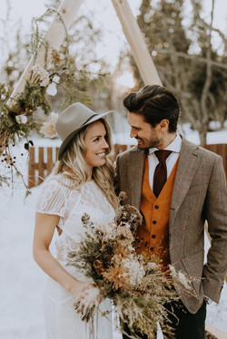 complet d'hiver mariage