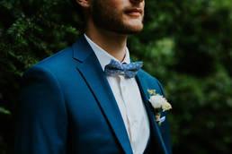 Costume bleu canard mariage Li