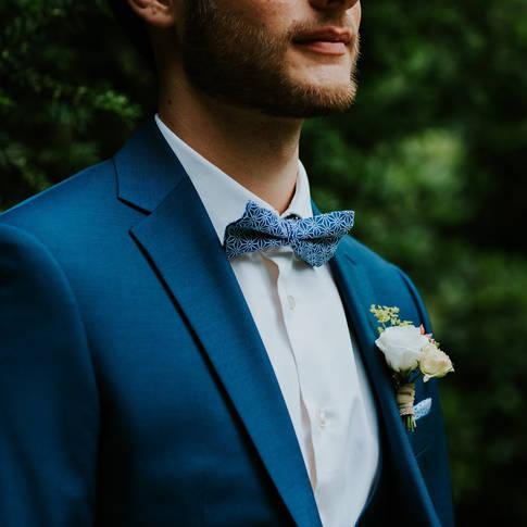 Costume bleu mariage Brussels, belguim