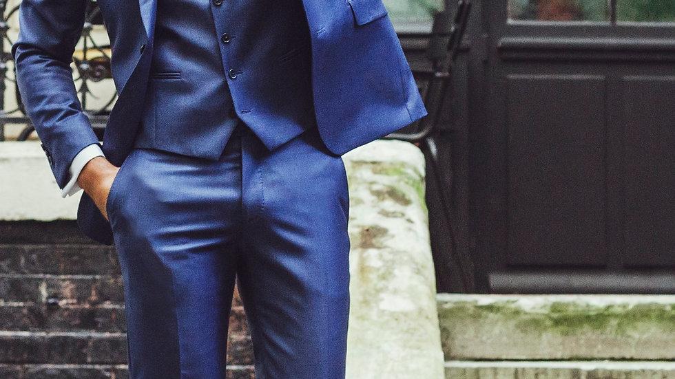 Gilet en tissu bleu lumineux