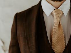 Costume Prince de Galles marron et rouge - Bordeaux