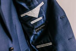 Détails Blandin & Delloye - Intérieur veste bleue Paris