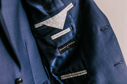 Détails Blandin & Delloye - Intérieur veste bleue Lyon 06