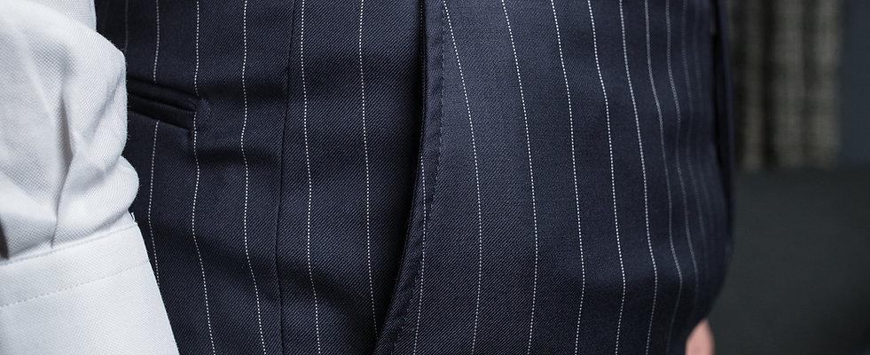 Pantalon rayé bleu