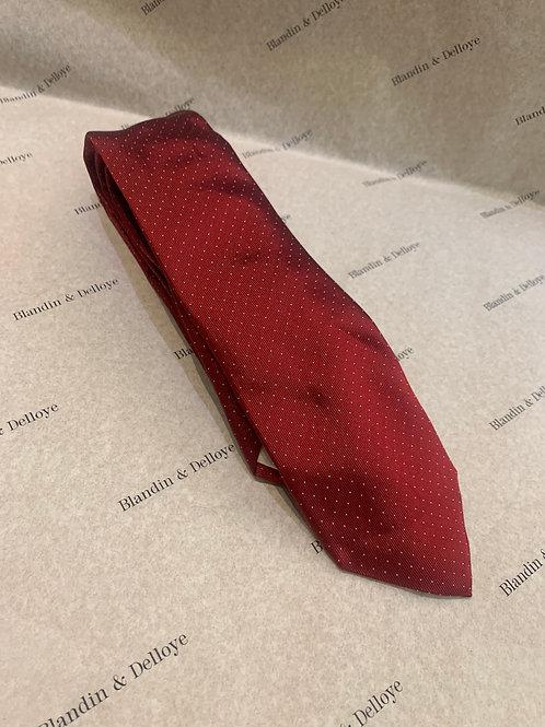 Cravate rouge a pois blanc