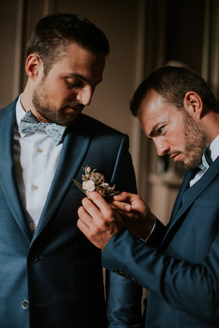 Costume pour Témoins Dark Teal mariage Lyon