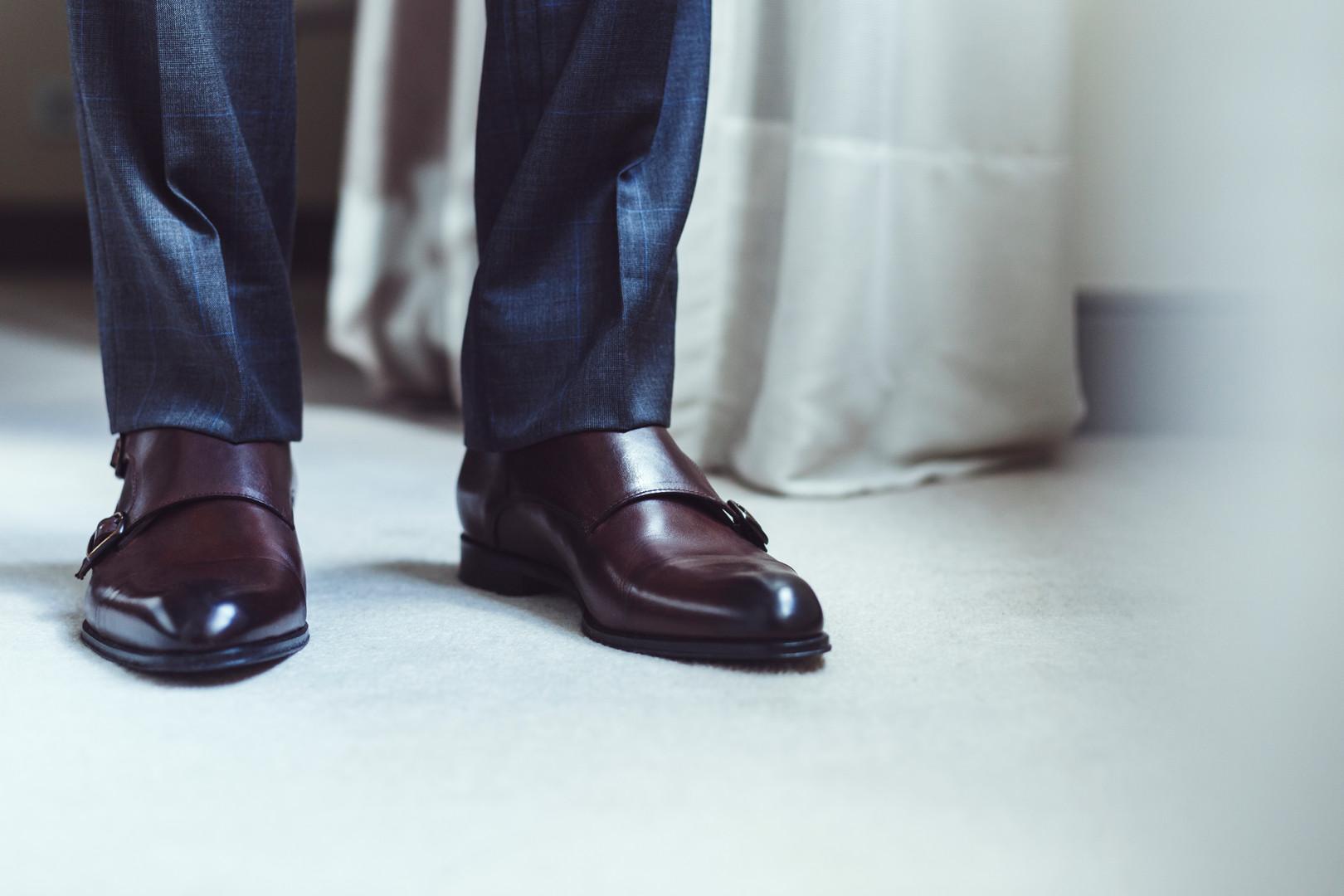 Pantalon prince de galles gris, bas simp