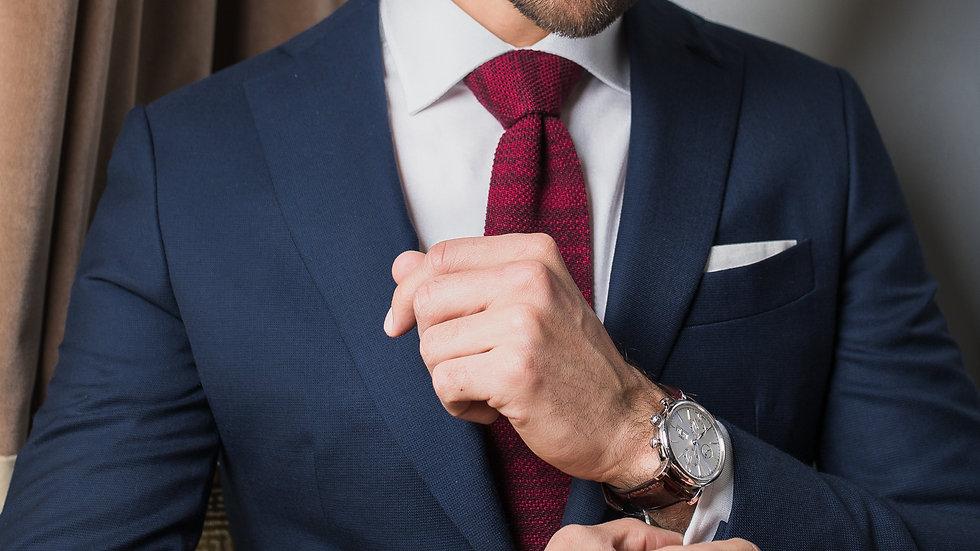 Veste Entoilage Traditionnel Tissu Piqué Bleu
