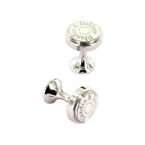 White cuff links
