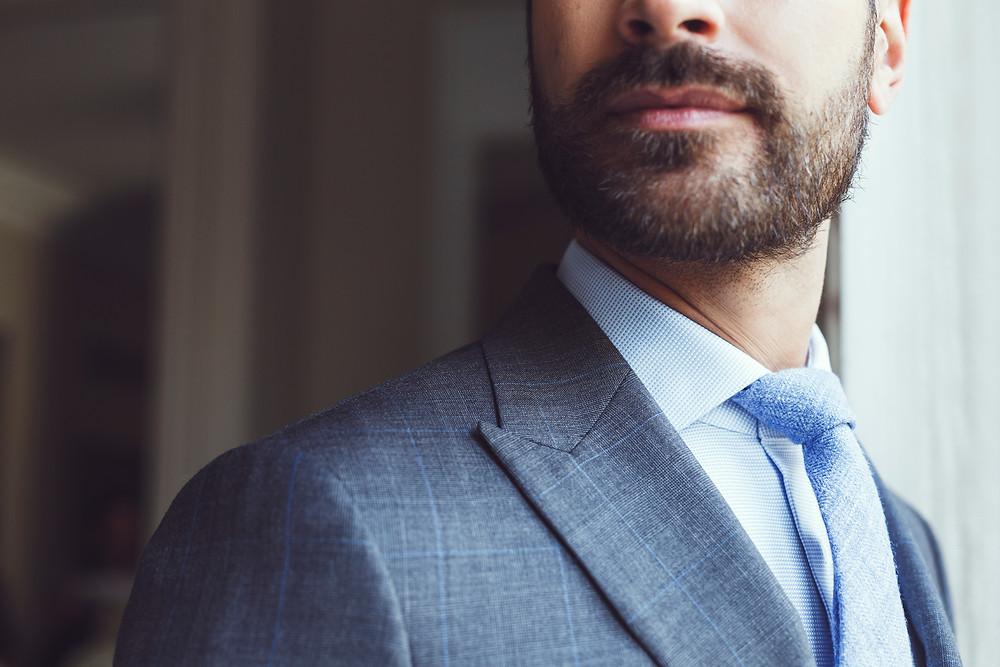 veste crai aigu prince de galle cravate