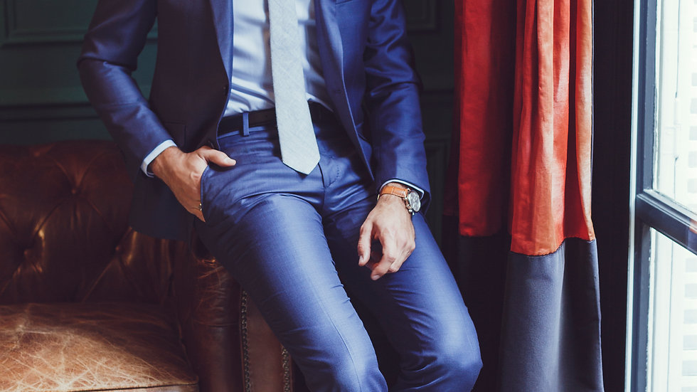 Pantalon tissu bleu lumineux