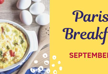 Join us for Parish Breakfast Sept. 22
