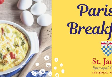 Parish Breakfast: Sunday, January 26