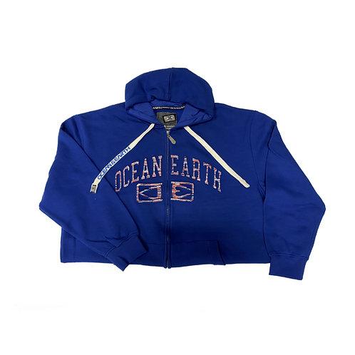 Ocean Earth Blue Hoodie