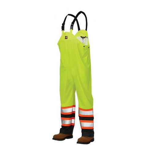 Tough Duck FR-Treated Hi Vis Rain Bibs