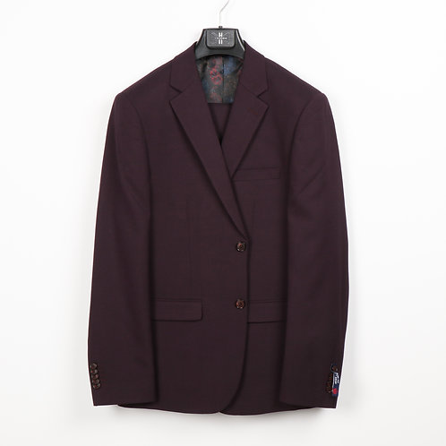Soul Of London Burgundy Suit