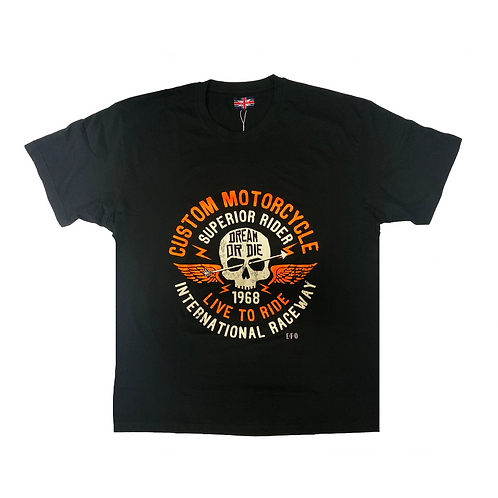 Custom Motorcycle T-Shirt  B/T