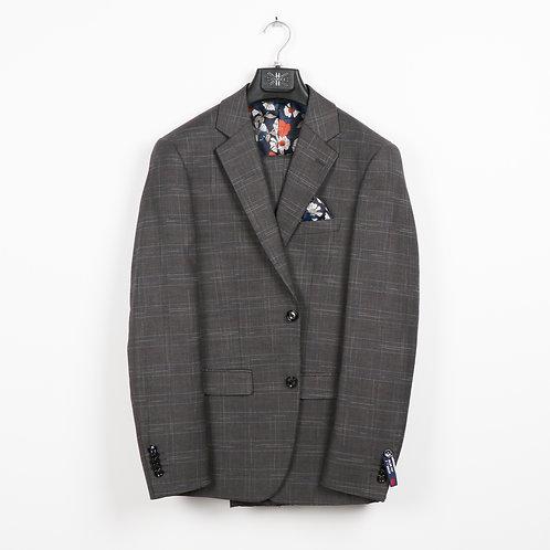 S.L Plaid Grey Suit