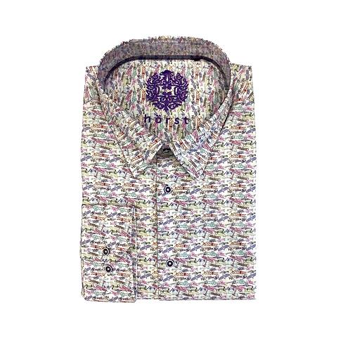 Hörst Slim fit fashion long sleeve sport shirt