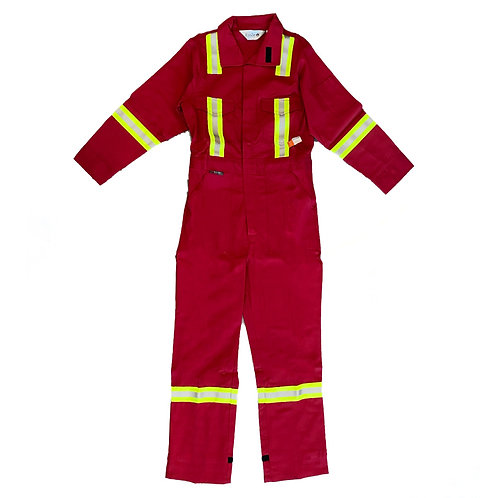 "Fire Retardant Coveralls W/Stripes ""Red"""