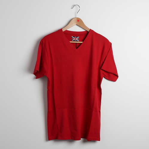 V Neck Solid Tee B&T