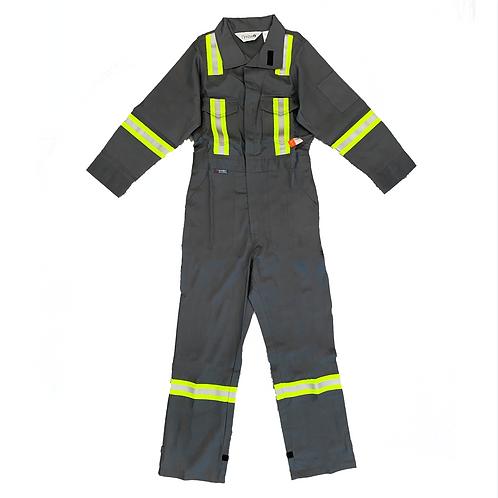 "Fire Retardant Coveralls W/Stripes ""Grey"""