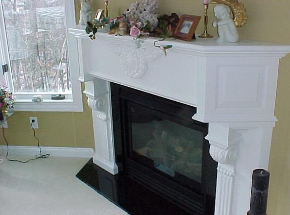 Mape Fireplace Surround Painted White
