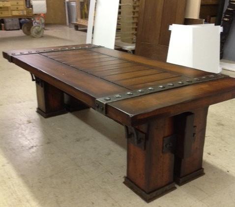 Wood and Metal Coffee Table 3