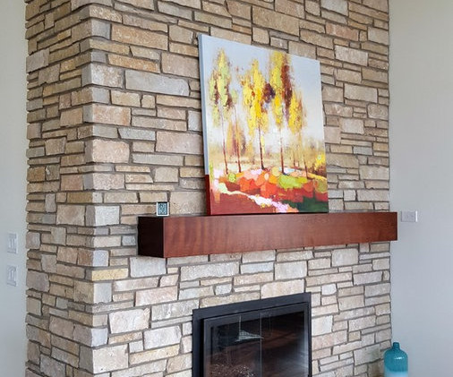 Maple Faux Beam Styled Mantle
