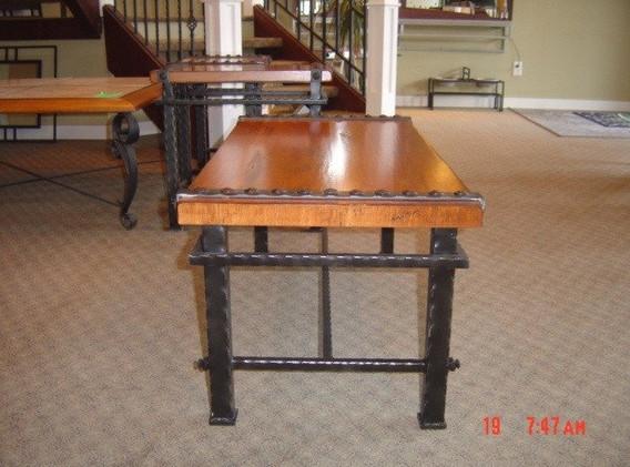 Wood and Metal Coffee Table 5